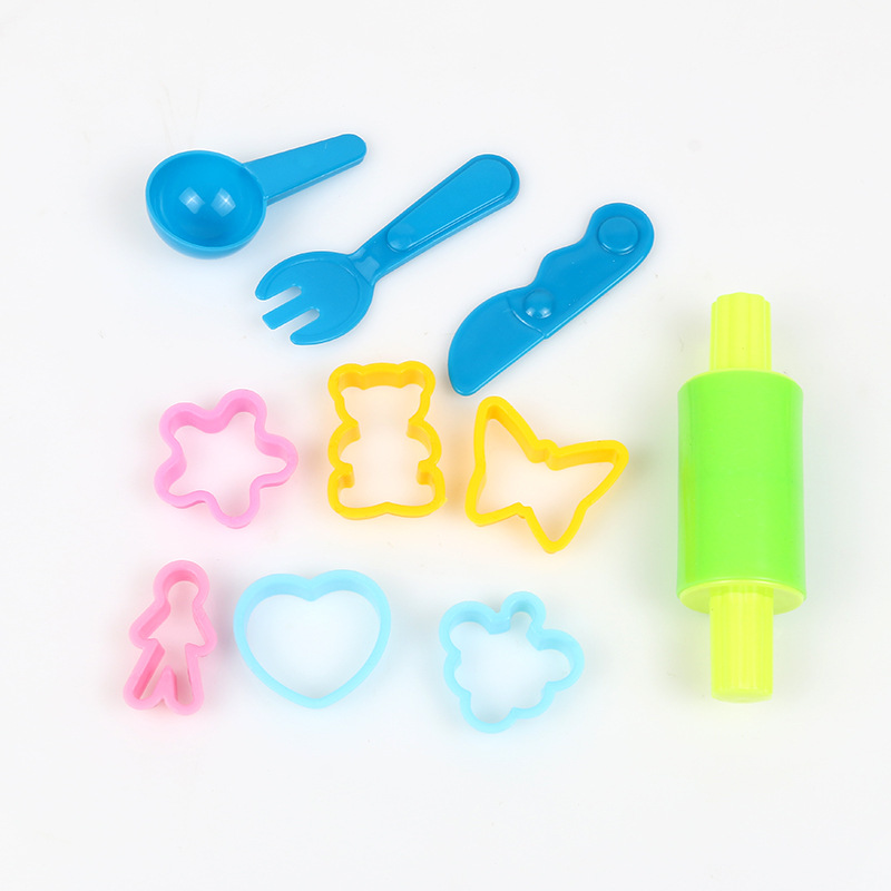 Hot 10pcs Play Dough Model Tool Toys 3D Plasticine Tools Playdough Set Clay Moulds Deluxe Set Learning Education Toys