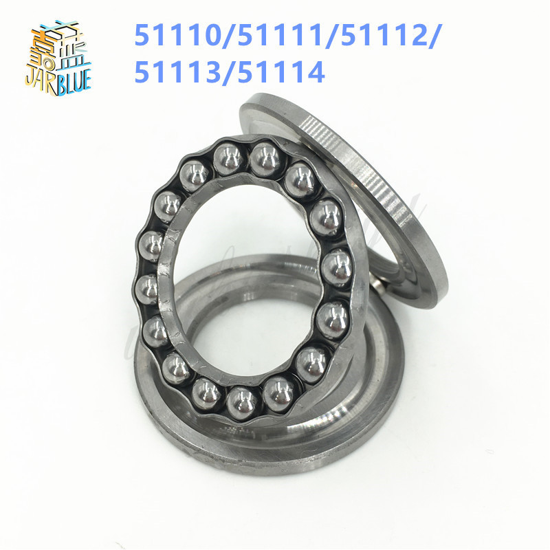 1Pcs 51110/51111/51112/51113/51114 Axial Ball Thrust Bearing 3-Parts 50x70x14mm 55x78x16mm 60x85x17mm 65x90x18mm 70x95x18mm