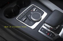 Yimaautotrims Center Control Multimedia Decoration Button Frame Cover Trim Fit For Audi A4 A5 B9 2016 2017 2018 Interior Kit yimaautotrims middle control gear shift multimedia cover trim interior mouldings fit for mercedes benz gle w166 2016 2017 2018