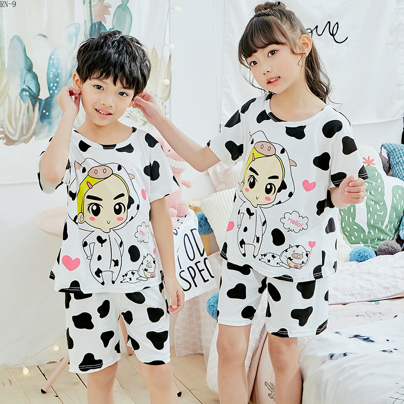 Cartoon Girls Clothing Summer Short   Pajamas     Set   Cartoon Boys Home Wear Suit Kids Cute Pijamas Baby Girl Loungewear Teen   Pajamas