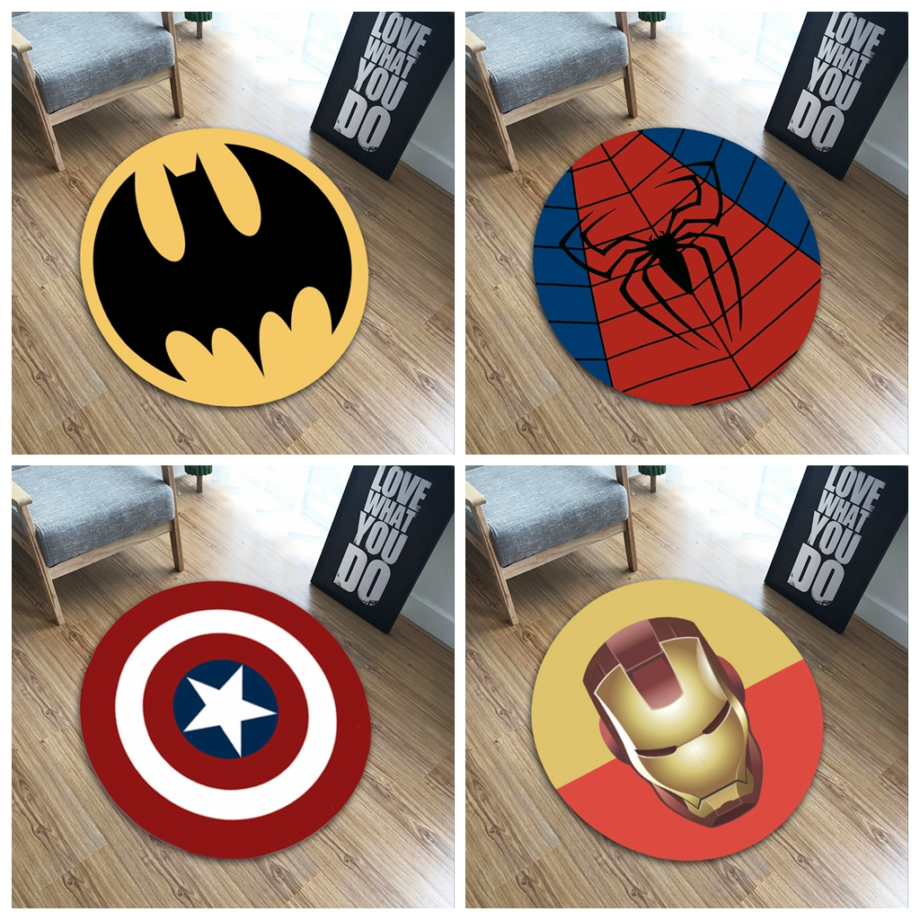XINTOCH The Avengers Carpet Marvel Plush Toys Batman Spiderman Iron Man Captain America Rug Flannel Gift