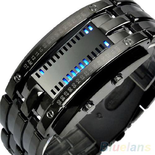 Men\'s Women\'s Luxury Alloy Band Date Digital LED Bracelet Sport Wrist Watch Couple Watch Watches