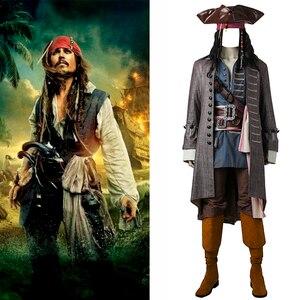 Капитан Джек костюм Джека Воробья Пираты Карибского моря косплей реквизит мертвецы не говорят сказки Salazar костюм аксессуары