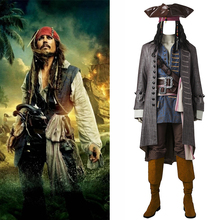 Captain Jack Sparrow Costume Pirates of the Caribbean Cosplay Props Dead Men Tell No Tales Salazar's Costume Outfit Accessories irek new halloween costume renaissance pirates caribbean men luxury crooks cyclops captain cosplay costume factory direct