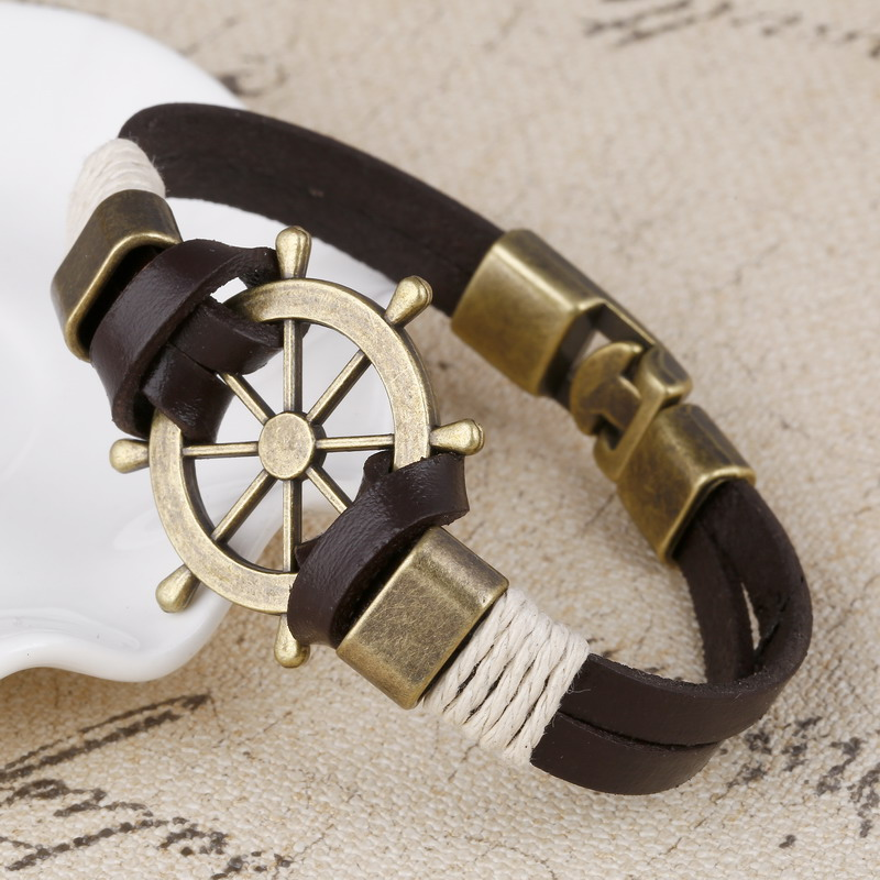 Wholesale Cuff braided Wrap Bracelet & Bangles Mens