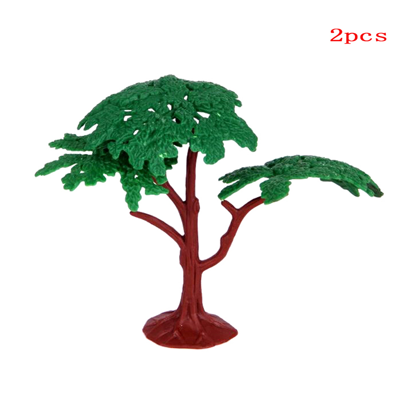 2Pcs Plastic Model Trees Train Scenery Landscape Railway Park Pine Architectural Model Supplies Building Kits Toys For Children