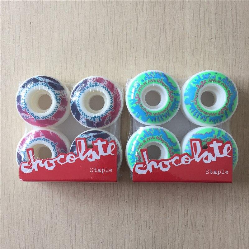 4PCS/Set CHOCOLATE Graphics Staple Skateboard Wheels PU 101A 50/52mm Skateboarding Wheels