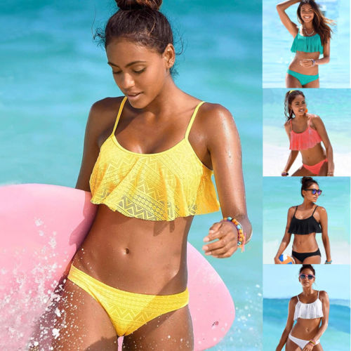 Two-Piece Bathing Suits Ruffles…