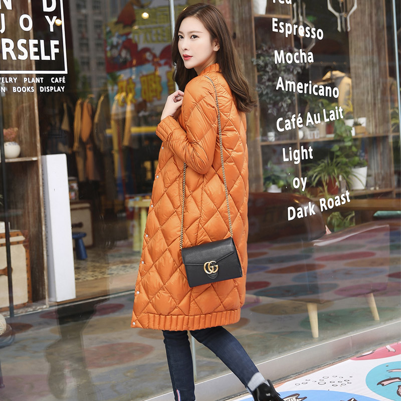 TOP Quality Spring Winter Women Ultra Light Down Long Jacket Casual Female Portable duck feather Coat