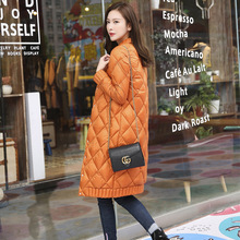 TOP Quality Spring Winter Women Ultra Light Down Long Jacket