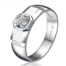 Diamond Solitaire for Men 0 10ct Natural Diamond 18K font b White b font font b