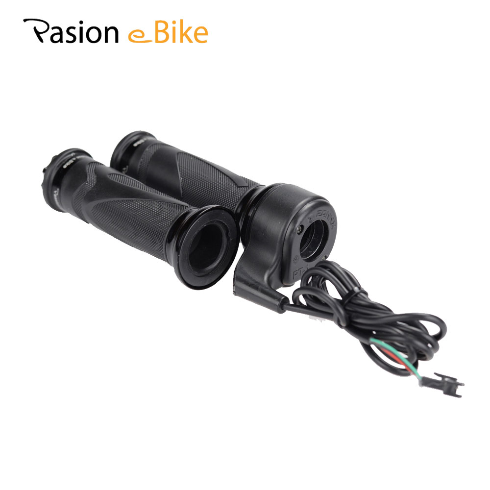 Pasion E <font><b>Bike</b></font> Twist Throttle Ebike Speed Throttle 24V 36V 48V 72V <font><b>Electric</b></font> Bicycle Parts Black <font><b>Electric</b></font> <font><b>Bikes</b></font> Parts Accelerator