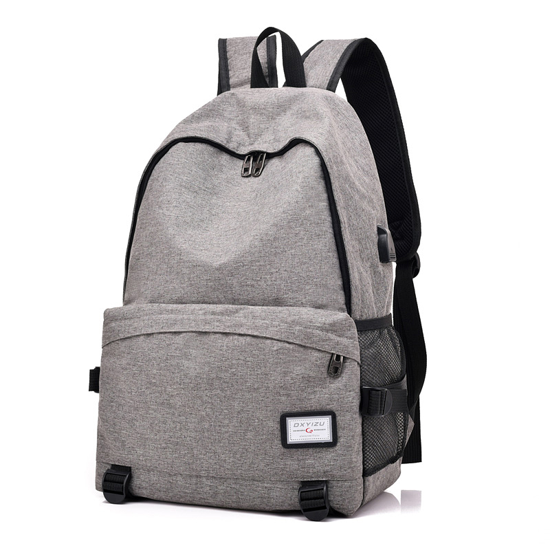 Men Backpack Bag USB Charge 15 Inch Laptop Backpacks For Teenager Fashion Male Women Leisure Travel Backpack Anti Thief Grey sopamey usb charge men anti theft travel backpack 16 inch laptop backpacks for male waterproof school backpacks bags wholesale