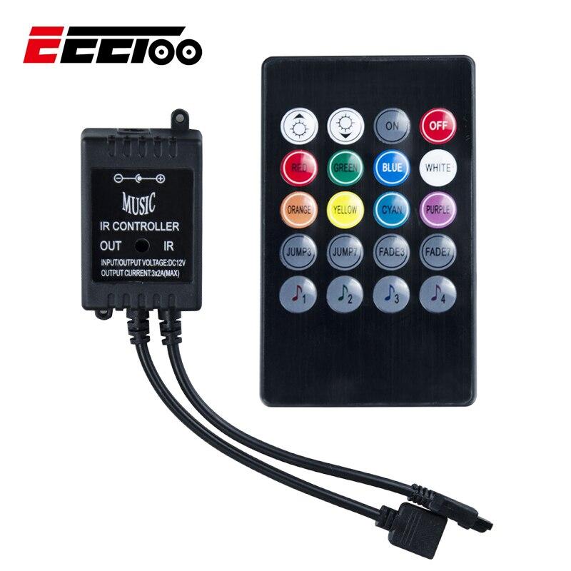 Eeetoo Музыка ИК-пульт дистанционного Управление; RGB Управление; для 2835 5050 3825 RGB ...
