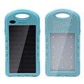 Настоящее 5000 мАч Солнечная Энергия Банк + LED Отдых На Природе Света Резервная Батарея Солнечное Зарядное Устройство Портативный Аккумулятор для Мобильных Телефонов