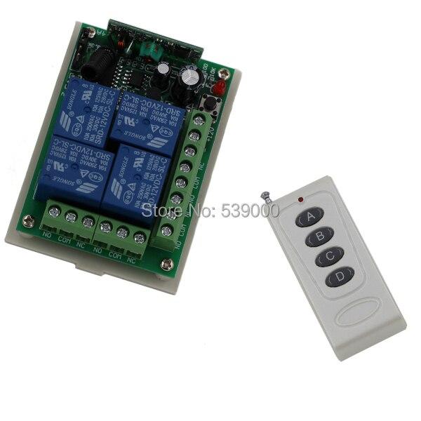 4CH RF Kabellose Fernbedienung System Remote Elektronischen sender empfänger fernbedienung/radio receiver