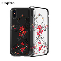 KINGXBAR For IPhone X 10 Case Swarovski Element Crystal Diamond Rhinestone Case For IPhone X Cover