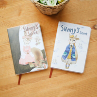 Creative Cute Waterproof Rubber Jacket Cover Notebook Lovely Multi Functional Inner Pages Planner Student Daily Memos