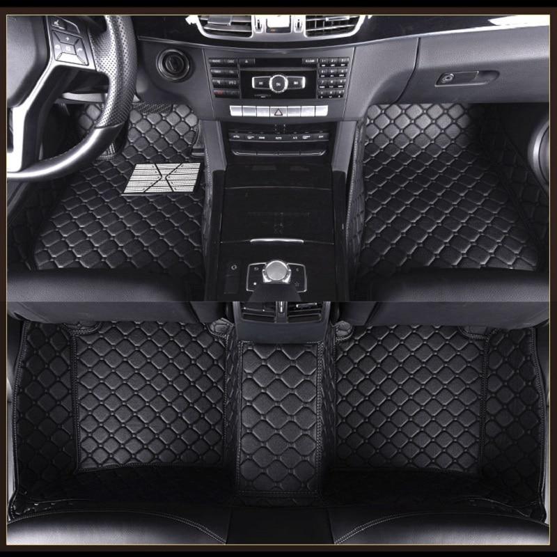 ZHAOYANHUA Car Floor Mats For RHD/LHD Hyundai i30 ix25 ix35 ix45 Veloster Grand SantaFe MPV H 1 Wagon Car Styling Carpets 2018