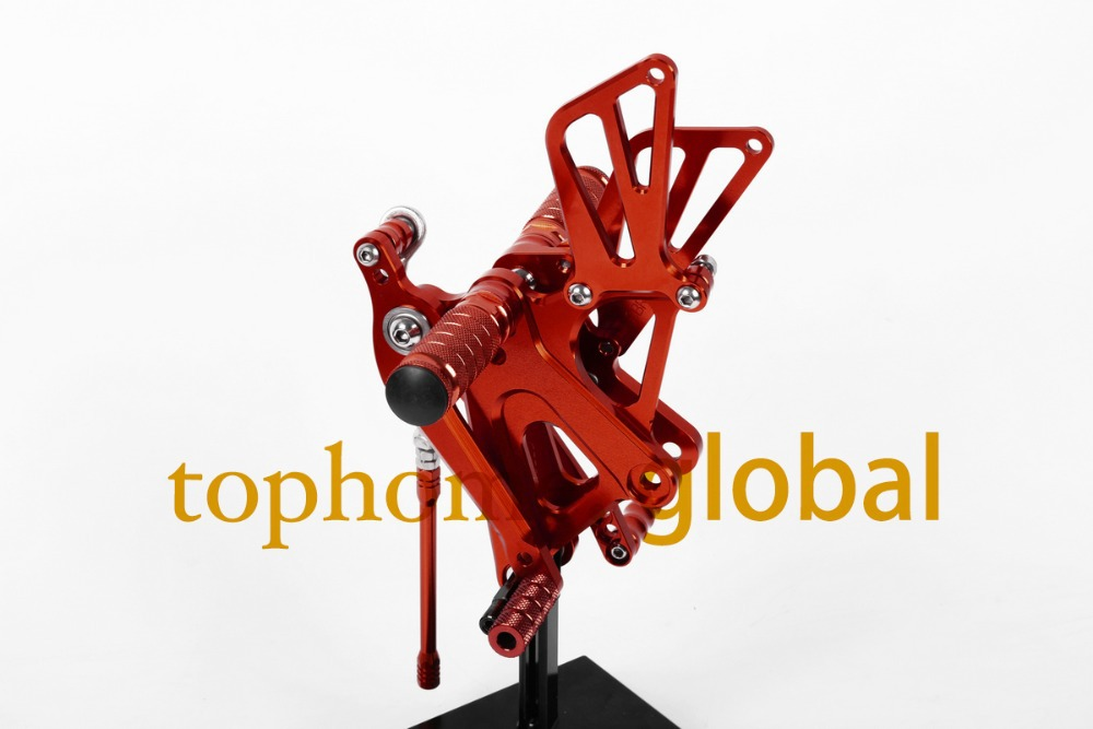 Free Shipping Motorcycle Parts Red CNC Rearsets Foot Pegs For Honda CBR250RR 2010-2013 2011 2012 motorcycle foot pegs