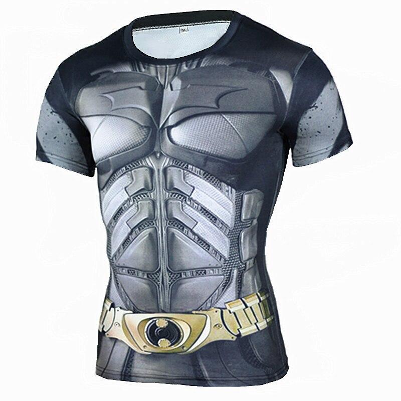2018 Neue Männer Laufschuhe Hemd Männer Compression Hemd Fitness Strumpfhosen Quick Dry Kurzarm T Hemd Männer 3d Gedruckt Turnhallen Männer T Shirt