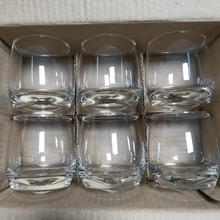 6Pcs/Set Tumbler Wine Glass Cup Crystal Whiskey Wine Glass Cup Rocking Cocktail Wine Glass Home Bar Hotel Drinkware