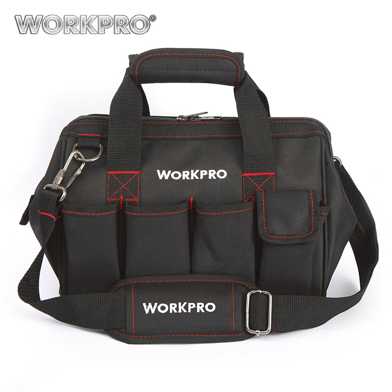 WORKPRO Tool Bags 600D Close Top Wide Mouth Electrician bags S M L XL for Choice