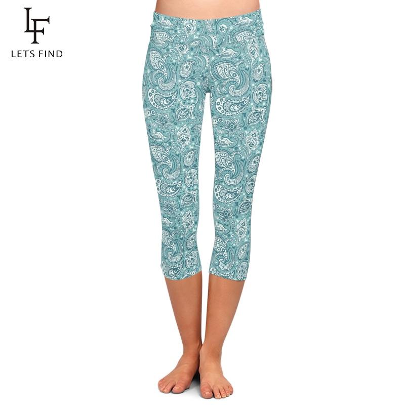 Women Capri Leggings Plus Size High Waist Elastic 220gsm Double Side Brushed Milk Silk Pants Mid-Calf Trousers Fou Summer