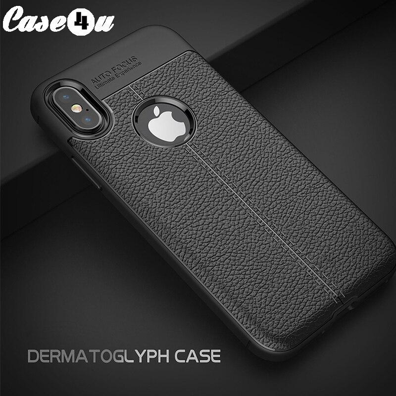 Личи зерна силиконовый чехол для iPhone X 8 8 плюс 7 7 плюс мобильный телефон из мягкой кожи Обложка Гибкая противоударный протектор накидки