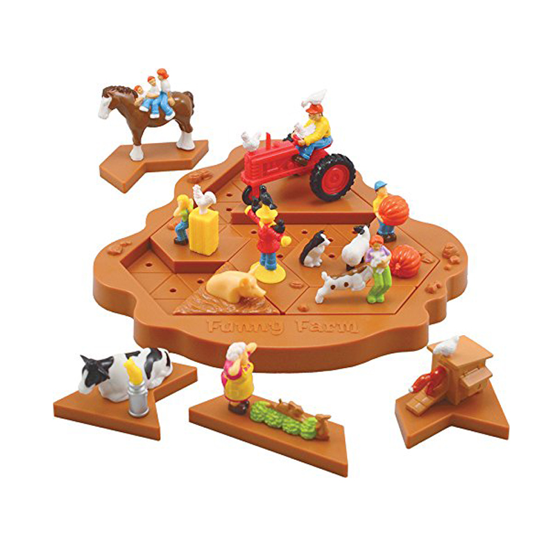 3D Pezzles Anti-stress Funny Farm Puzzle Challenge The Brain  Tricks Game Toys For Children Educational Toys For Party Supplies funny bricks blocks anti stress tricks fun toys intelligent pyramid educational toys family party game