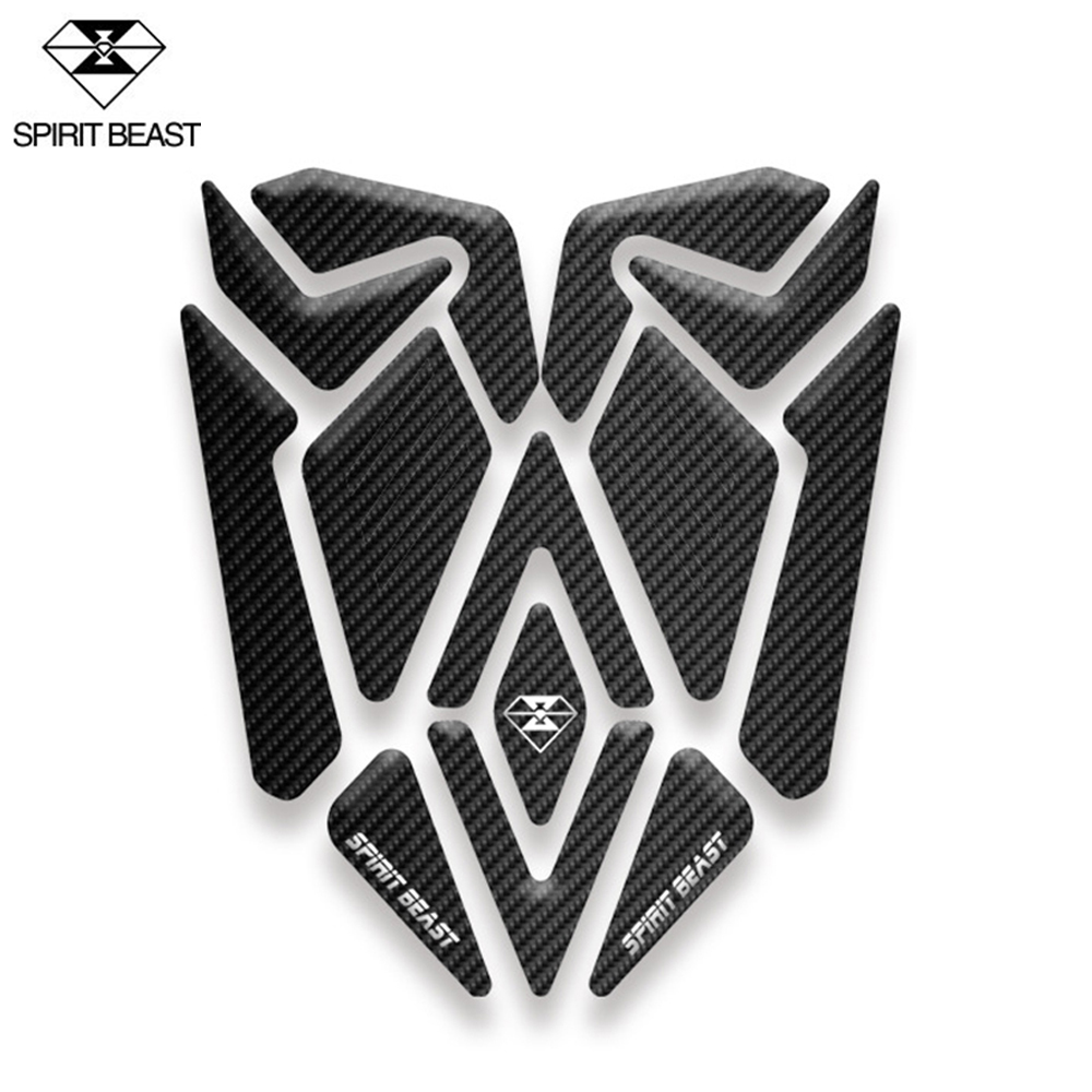 SPIRIT BEAST Motorcycle Sticker Moto Gas Fuel Tank Pad Protector Cover Motocross Decoration Decals For Honda Yamaha Kawasaki KTM