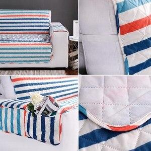 Image 3 - 1/2/3 Seat Katoen stofbeschermde Sofa Covers Voor Honden Huisdieren Kids Anti Slip Gewatteerde fauteuil Couch Kussenovertrekken Meubels Protector