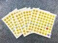 20 hoja (48 pegatinas) Encantador Lindo 48 Troquelado Emoji Sonrisa de Pegatinas Para Portátiles Mensaje de Alta Vinilo Divertido creativa