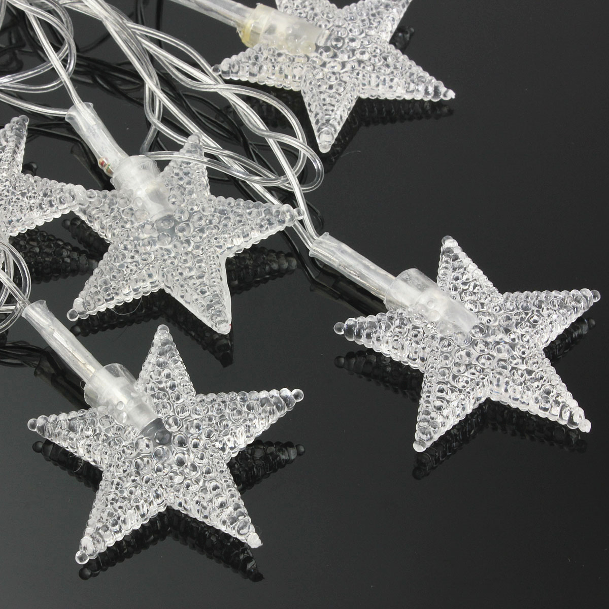 Jiguoor AC220V 5M 28 LED Party fairy Lights Five-pointed Star LED Christmas string lights for Outdoor Indoor Xmas Party use ...