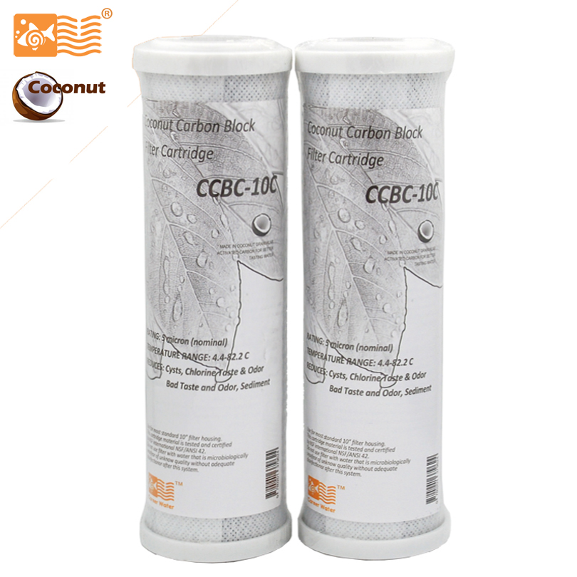 Coronwater CCBC-10C Water Filter Coconut Shell Activated Carbon Block RO Replacement Water Filter Cartridge coronwater 400gpd water filter ro