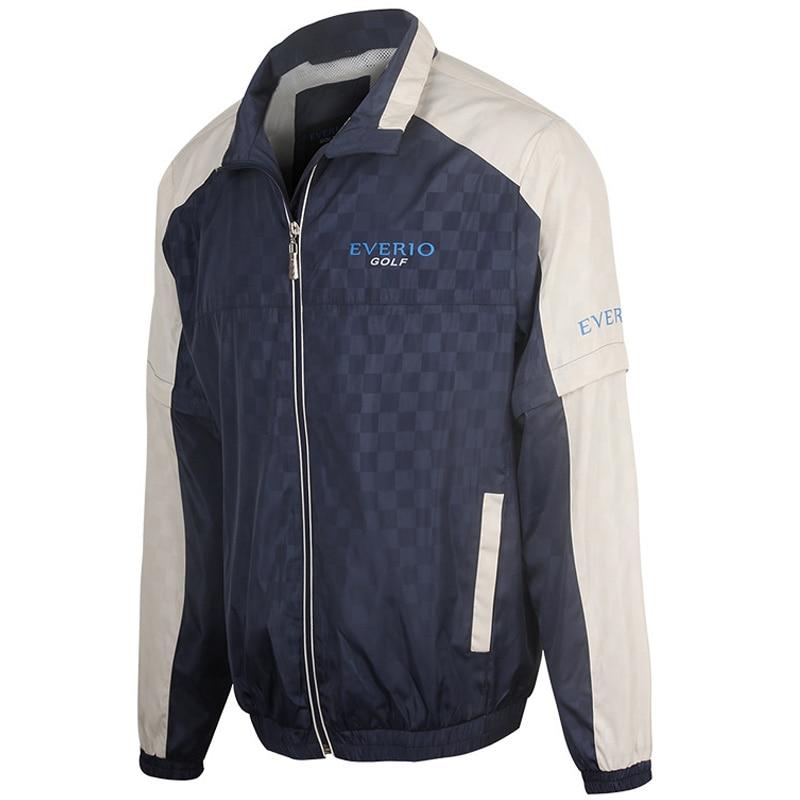 Veste de Golf manteau à glissière pour hommes imperméable à l'eau en plein air Golf coupe-vent sport vêtements masculins pour automne chemise de golf à manches longues ou vestes