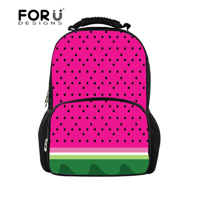 dbcc391126 ... new concept 2184a 7ba59 FORUDESIGNS 2018 School Bags Watermelon  Printing for Girls Orthopedic Schoolbag Teenagers Middle ...