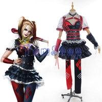 Batman Arkham Asylum город отряд самоубийц Харли Квинн Джокер Платье для косплея полный набор Для женщин костюмы на Хэллоуин