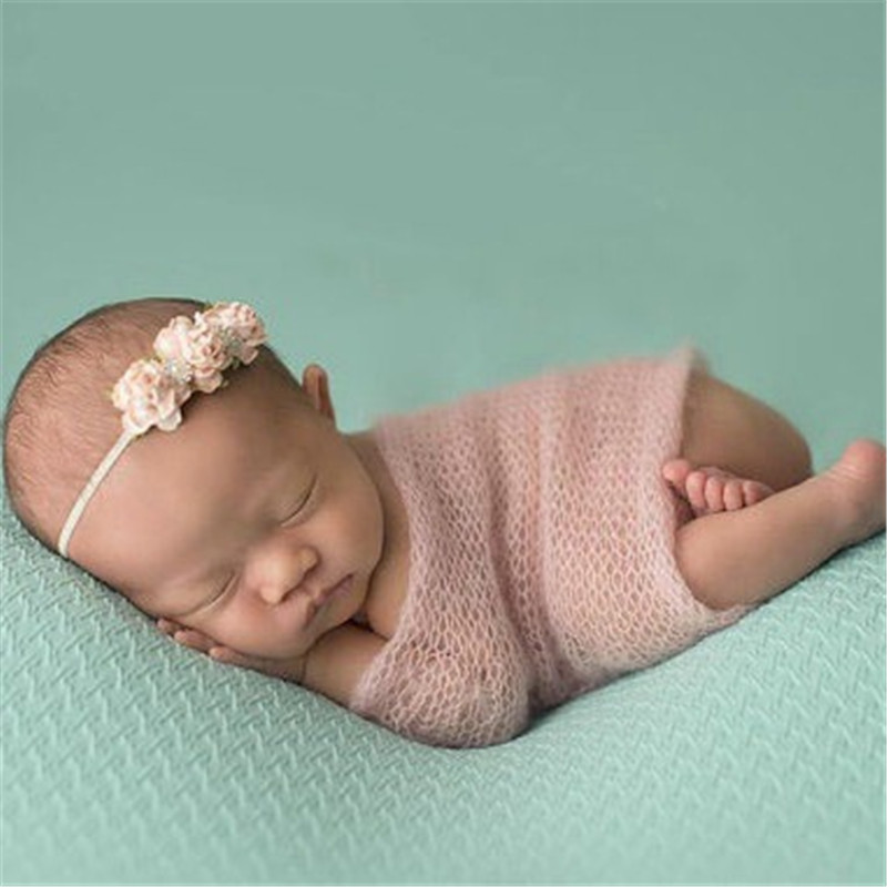 Carina! Accessori per foto neonato 40X60 CM Mohair Wrap Best Christmas Gift Soft Crochet Point Baby Photo Session Photography