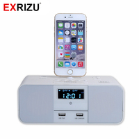 S6 Premium Hotel Home Charger Dock Stand Station 5W X 2 Mini Wireless Bluetooth Music Speaker