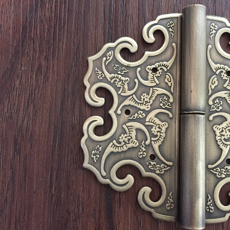 Chinese antique furniture accessories copper top cabinet wardrobe door hinge carved.-in Cabinet Pulls from Home Improvement on Aliexpress.com   Alibaba ... & Thickening! Chinese antique furniture accessories copper top cabinet ...