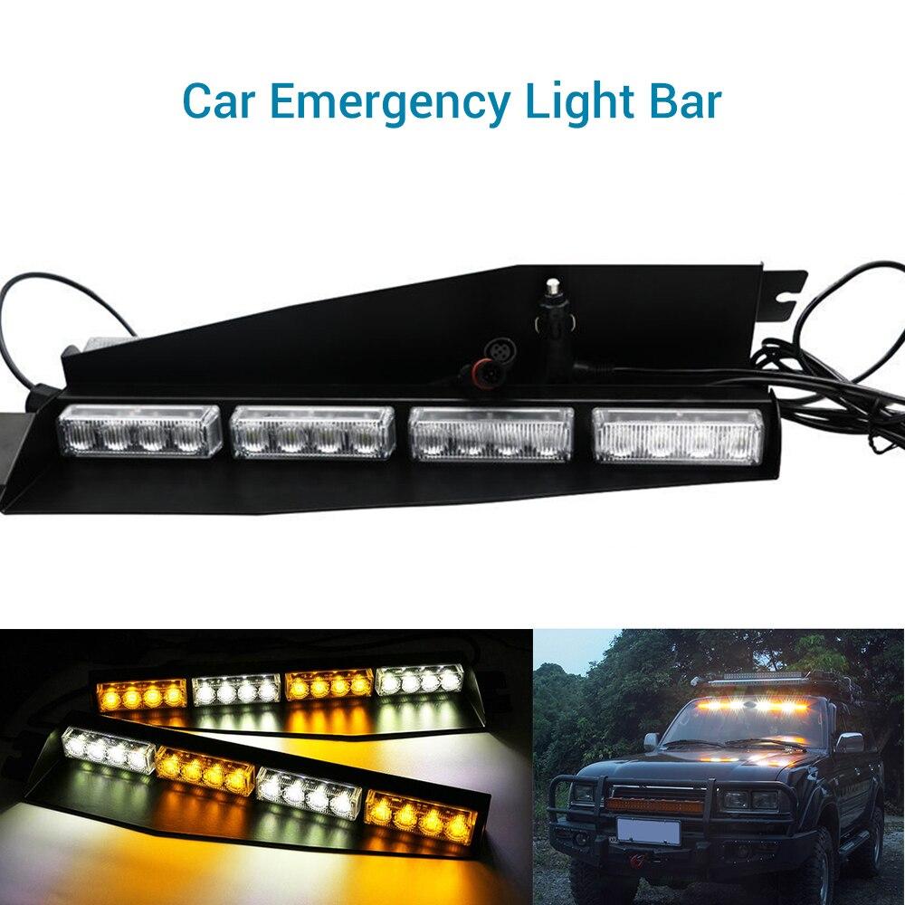 2 pièces 12 V véhicule voiture avant voyant d'urgence Flash LED lampe de Police feux de jour 45 cm X 11 cm X 4 cm lumière stroboscopique