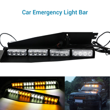 2PCS 12V Vehicle Car Front Emergency Warning Light Flash LED Police Lamp Daytime Running lights 45cm X 11cm X 4cm Strobe Light lit 45 x 11cm car decorative voice sensor sound controlled 5 color led light sticker multicolored
