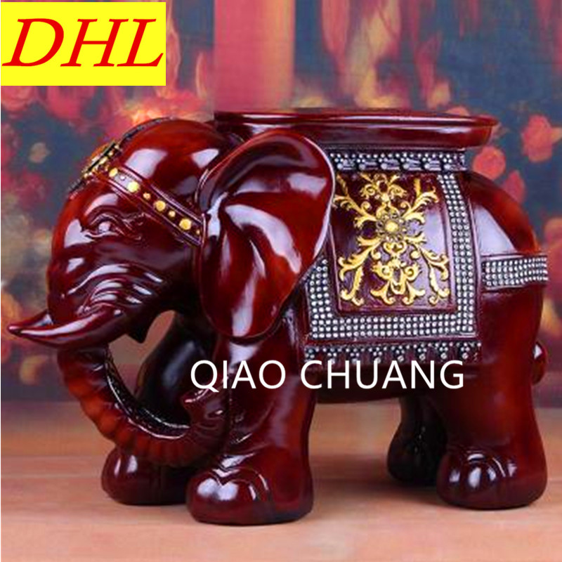 45 CM US house fashion house creative resin molding platinum elephant shoes stool changing his shoes resin gifts Art Craft S358 fashion house
