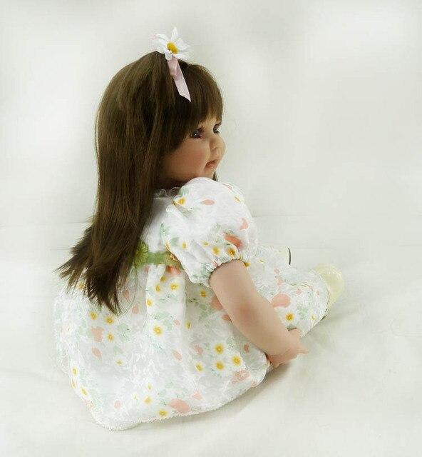 50cm Silicone Reborn Baby Doll Toys 20inch Vinyl Princess Toddler Girl Doll Lifelike Fashionable Birthday Gift