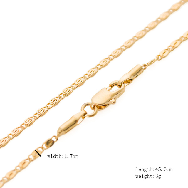 High Quality Snail Curl  Gold Gold Filled Gold Necklace Individuality Wild Man Woman Jewelry 45cm and 60cm Length