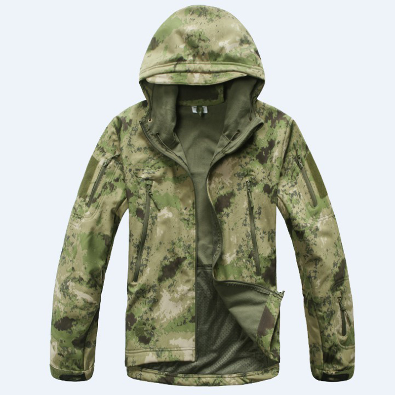 2017 Outdoor Jacket Coat Water-resistant Luker TAD Shark Skin Soft Shell Hoodie Military Airsoft Camping Hiking Clothing lurker shark skin soft shell v4 military tactical jacket men waterproof windproof warm coat camouflage hooded camo army clothing