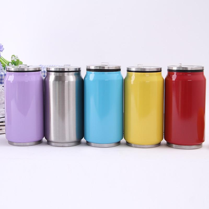 2016 Creatieve rvs Thermos Cup Mini Fles Thermoskan Stro Koffie - Keuken, eetkamer en bar
