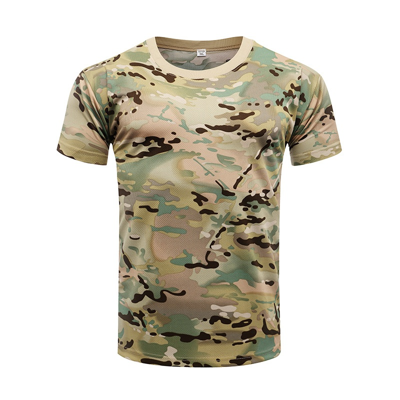 US Men Camo T-Shirt Military Blouse Short Sleeve Tee Army Camouflage Tops NEW