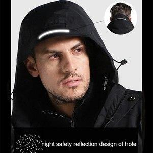 Image 3 - Veste dhiver en coton épais pour homme et femme, manteau imperméable pour lextérieur, chauffage USB, coupe vent, randonnée, Camping, escalade, ski